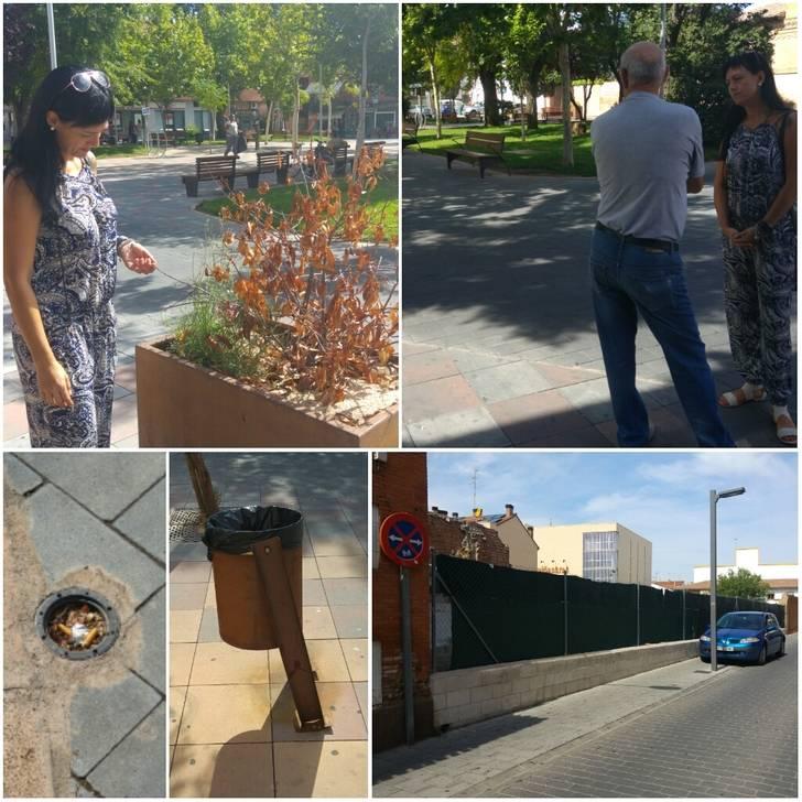 Ciudadanos Azuqueca solicita al equipo de Gobierno un mayor mantenimiento de la plaza General Vives