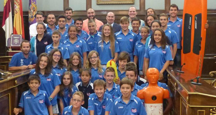 Latre felicita al Club Alcarreño de Salvamento y Socorrismo por los éxitos del Campeonato de España