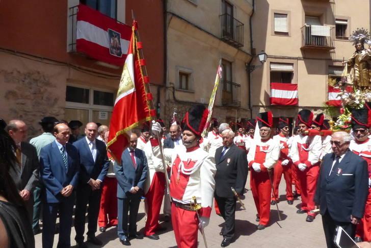 El presidente de la Diputación asiste en Molina a la festividad de la Virgen del Carmen