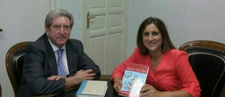 La diputada de Ciudadanos recibe al alcalde de Sacecorbo
