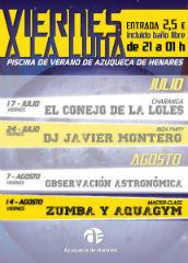 El programa 'Viernes a la luna' de Azuqueca se despide con una clase magistral de zumba y aquagym
