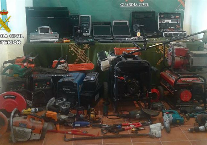 Cae un grupo criminal que cometió 126 robos en Albacete, Toledo y Ciudad Real