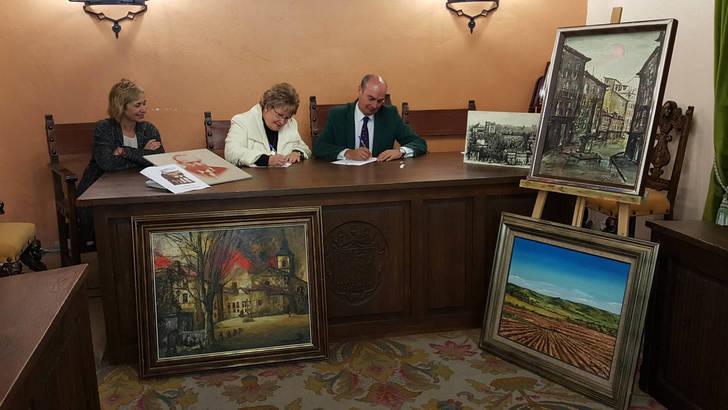 Un convenio ratifica la donación de la colección pictórica de la familia Santos al Ayuntamiento de Sigüenza