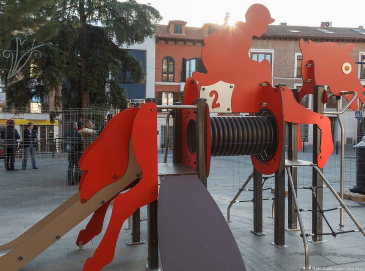El Ayuntamiento de Guadalajara sigue mejorando y aumentando los juegos infantiles de la ciudad