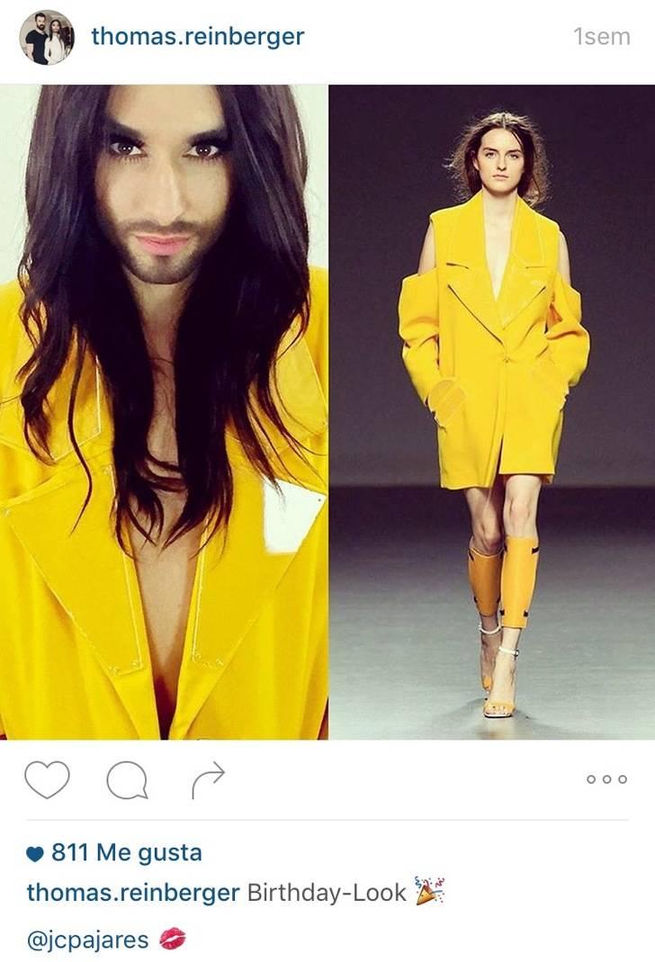 Conchita Wurst vuelve a elegir al marchamalero Juan Carlos Pajares para su cumpleaños