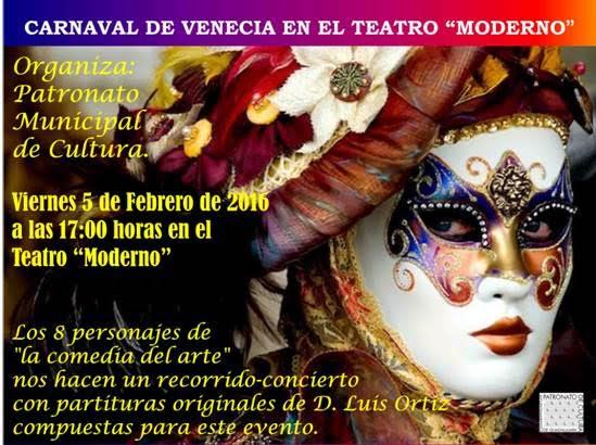 Los amantes del Carnaval veneciano tienen una cita este viernes en el Teatro Moderno
