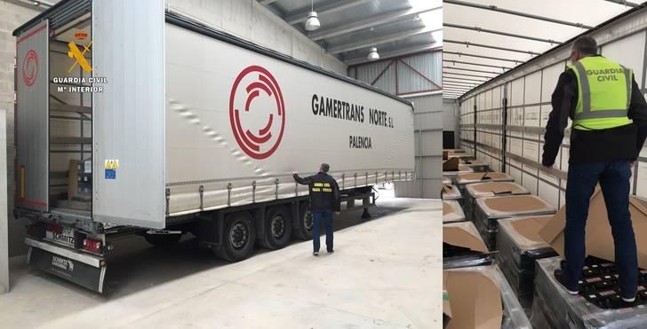 La Guardia Civil recupera un tráiler cargado de baterías 72 horas después de haber sido robado