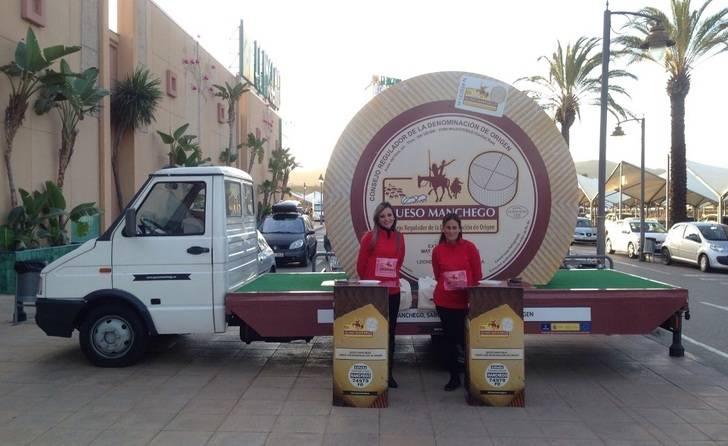 Un queso manchego gigante ha recorrido diferente ciudades de España