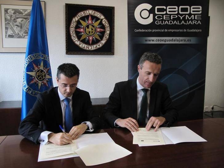 CEOE-CEPYME Guadalajara y la UNED firman un convenio de colaboración