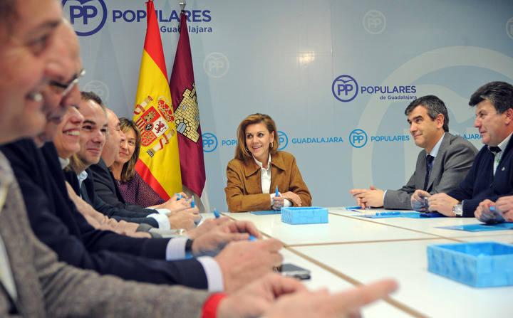 """Cospedal: """"El acuerdo entre PSOE y Ciudadanos es un pacto entre partidos, no de investidura ni de Gobierno"""""""
