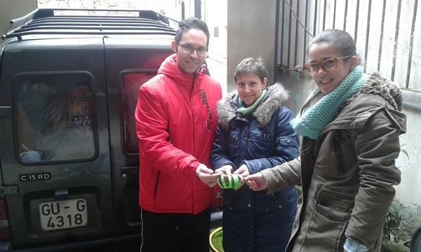 Jadraque ha recogido más de 140 kilos de tapones para ayudar a Nacho