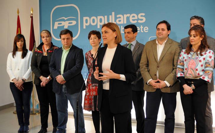 Cospedal lamenta que, en solo seis meses de Gobierno de PSOE-Podemos, volvamos a las andadas al incumplir el objetivo de déficit