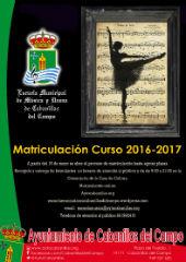 Periodo de matriculación para el próximo curso en la Escuela Municipal de Música y Danza de Cabanillas