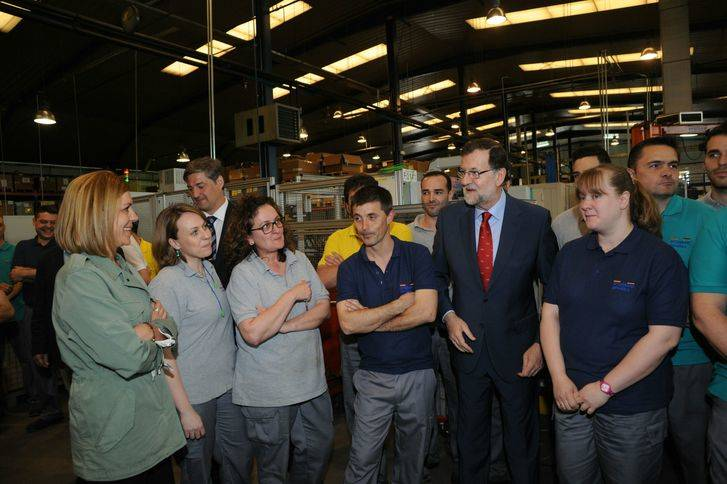 Cospedal muestra a Rajoy el potencial de las empresas del Corredor del Henares para crear empleo