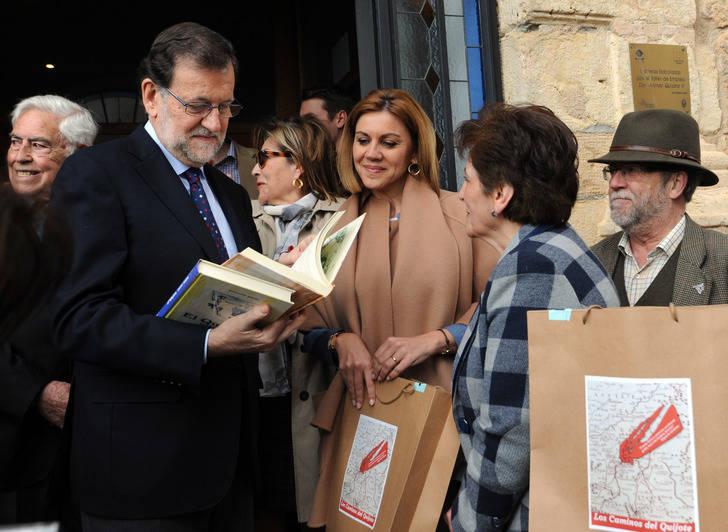 Rajoy vuelve a la región para poner en valor la educación y la lectura en el 400 aniversario del fallecimiento de Cervantes