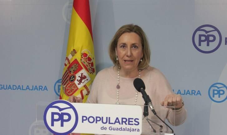 """Silvia Valmaña: """"Page no perdona que Guadalajara fuera la provincia que hiciera caer el régimen socialista en Castilla-La Mancha"""""""