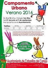 Abierto el plazo de inscripción para el Campamento Urbano de Verano de Cabanillas