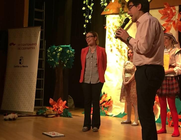 Más de 300 escolares de Sigüenza asisten a la representación teatral 'Quiero ser Quijote'