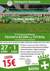 El campus de tecnificación de fútbol se consolida junto al CD Marchamalo