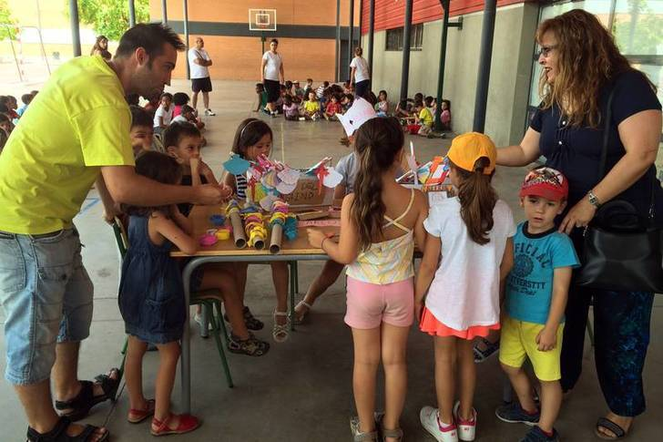 Imagen de archivo del campamento urbano del pasado verano. Fotografía: Álvaro Díaz Villamil/ Ayuntamiento de Azuqueca de Henares