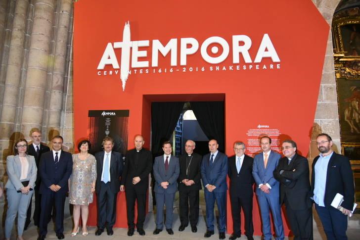 """Inauguración de la exposición """"A tempora, Cervantes 1616-2016 Shakespeare"""" en Sigüenza"""