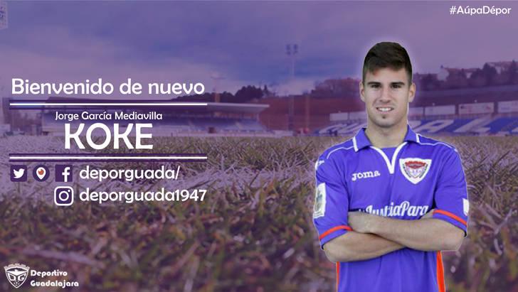 "Jorge García Mediavilla ""Koke"" regresa al C.D. Guadalajara"