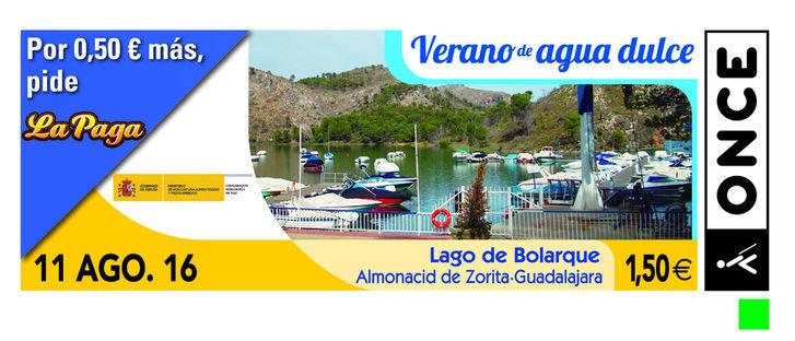 La ONCE dedica un cupón al Lago de Bolarque, en la serie Verano de Agua Dulce