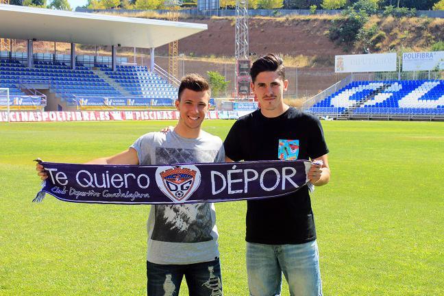 Joshua Zapata y Álex Alonso se presentan como nuevos jugadores del C.D. Guadalajara