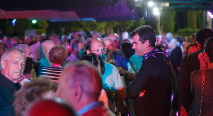Gran animación y participación en la primera verbena de jubilados de estas Ferias