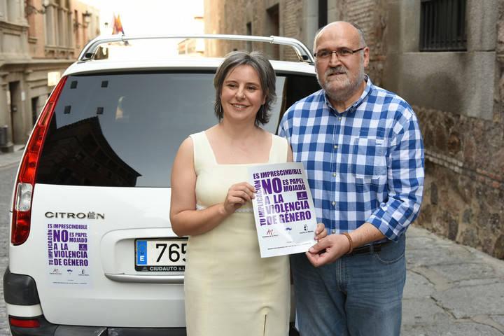 Más de 500 taxis de Castilla-La Mancha se unen a la campaña contra la violencia de género del Instituto de la Mujer