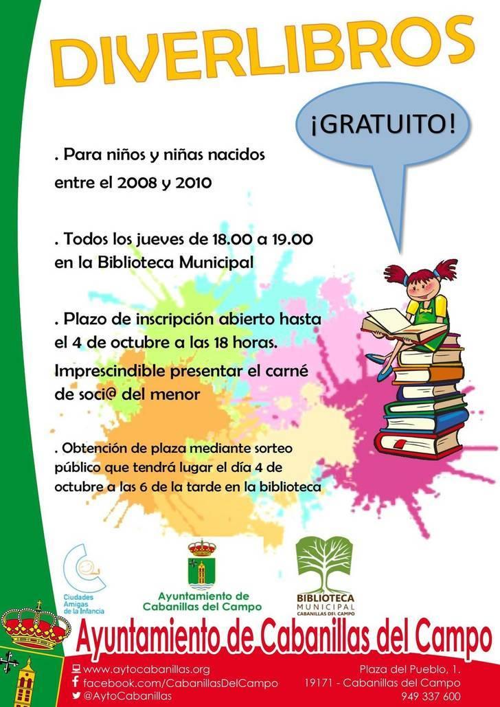 """La Biblioteca de Cabanillas lanza """"Diverlibros"""", nuevo programa de animación a la lectura"""