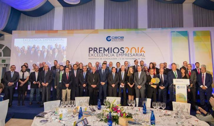 CEOE-CEPYME Guadalajara celebra con su entrega de los premios Excelencia Empresarial 2016