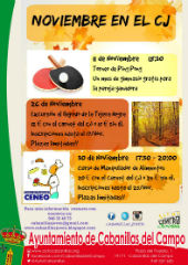 Noviembre llega repleto de actividades al centro joven de Cabanillas