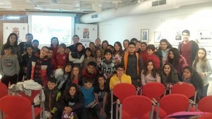 """Escolares del Colegio """"Badiel"""" participan en una lectura comentada del """"Viaje a la Alcarria en familia"""""""