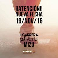 La II Carrera solidaria Mizu a favor de la Fundación Nipace se traslada al 19 de noviembre por causas meteorológicas