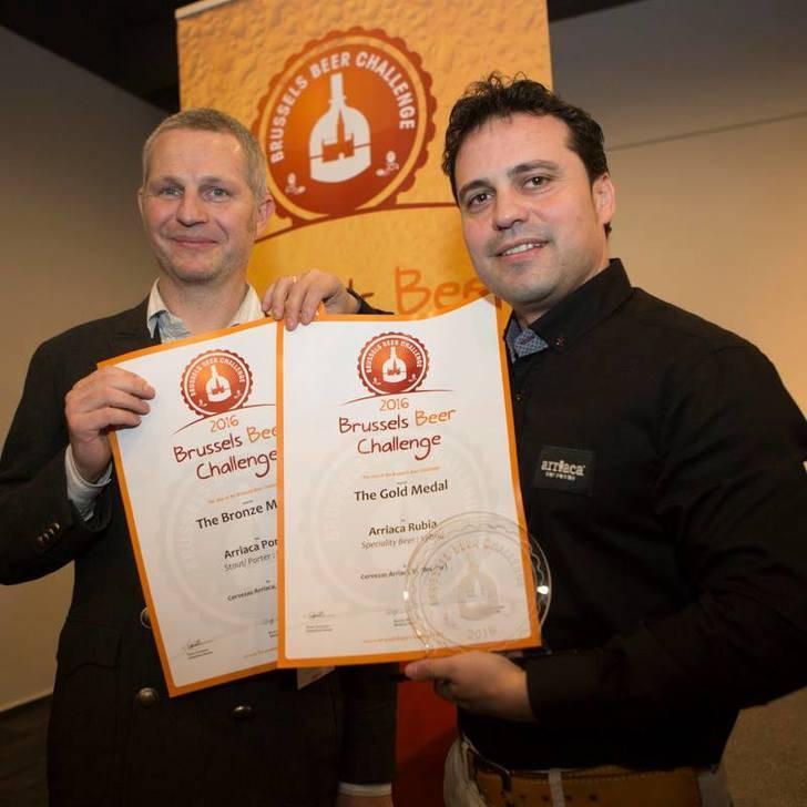 Arriaca se trae dos medallas del certamen internacional 'Brussels Beer Challenge 2016'