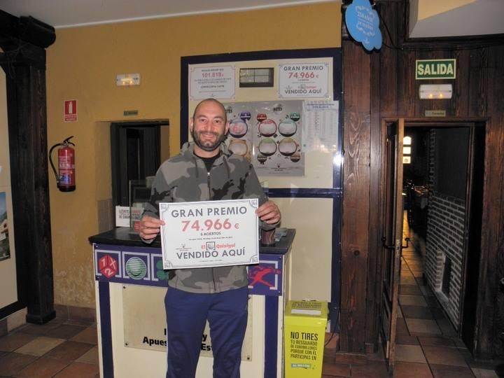 Apuesta un euro al Quinigol en Sacedón y se lleva casi 75.000