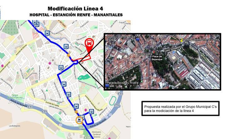 Los barrios de Colonia-Eras y El Fuerte tendrán conexión directa de autobuses con la estación de Renfe