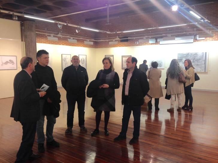 Inaugurada la exposición con los premios de Dibujo y Fotografía 2016 de la Diputación de Guadalajara