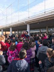 El alcalde de Guadalajara ha visitado este jueves el colegio Santa Cruz