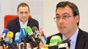 El exconcejal del PP en Alcázar de San Juan, Ángel Puente, y el presidente local del partido, Diego Ortega