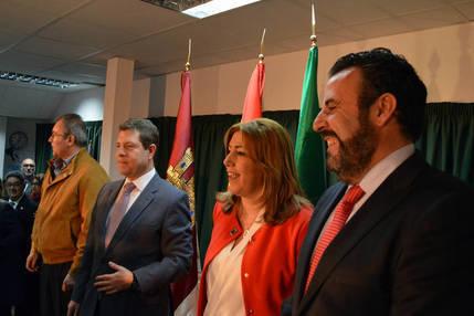 Emiliano García-Page y Susana Díaz inauguran la sede de la Casa de Andalucía en Azuqueca
