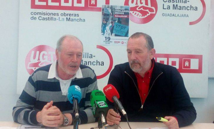 CCOO llama a la ciudadanía de Guadalajara a las movilizaciones del 19 y 22 de febrero contra el encarecimiento de la vida
