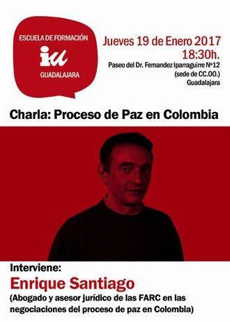 IU Guadalajara trae a Enrique de Santiago para hablar del proceso de paz en Colombia
