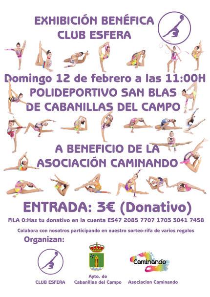 """Exhibición solidaria de gimnasia rítmica en Cabanillas para la """"Asociación Caminando"""""""