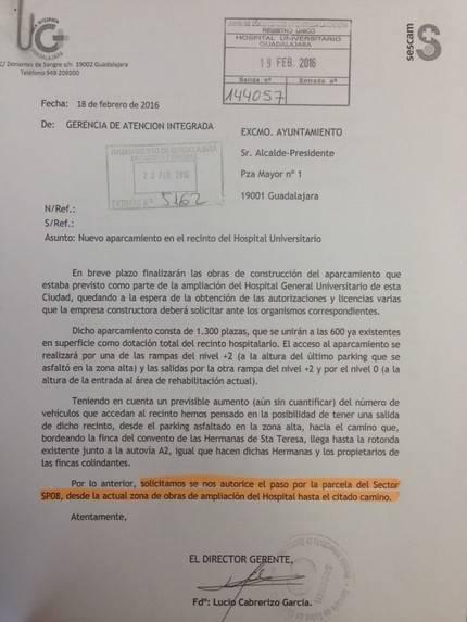 Carnicero demuestra que la Junta iba a asumir la construcción del acceso al Hospital que ahora reclama al Ayuntamiento