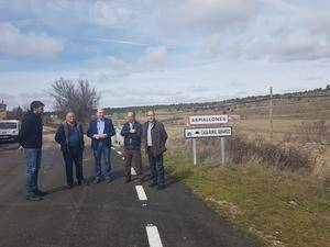 El presidente de la Diputación resalta la importante mejora de la carretera de Armallones en pleno Alto Tajo