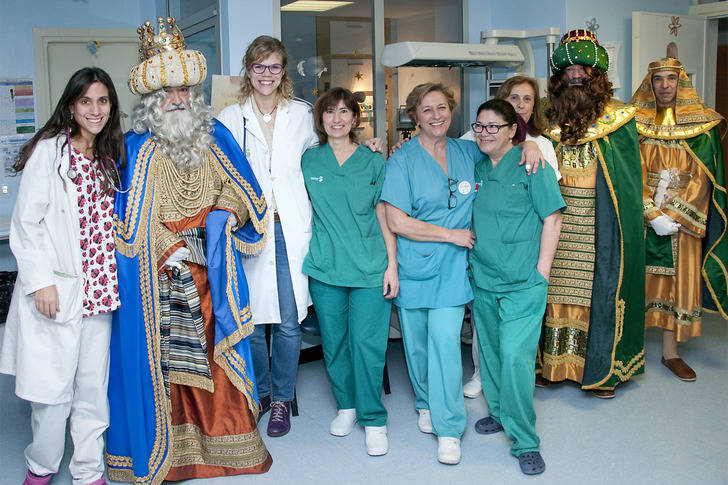 Los Reyes Magos no se olvidaron de visitar el Hospital Universitario de Guadalajara