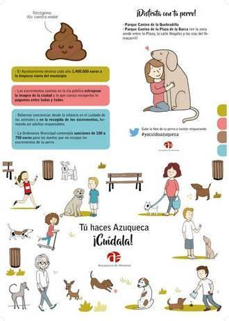 Azuqueca declara la guerra a los dueños de perros que no recogen los excrementos de sus mascotas