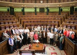 Vecinos de Illana visitan el Congreso de los Diputados y el Senado